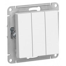 Выключатель АтласДизайн 3СП б/п 10А IP20 механизм белый  ATN000131