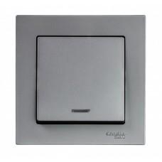 Выключатель АтласДизайн 1СП с/п 10А IP20 механизм сталь  ATN000913