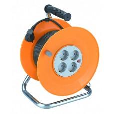 Удлинитель на катушке ПВС 3х1 4гн с/з б/шт термовыкл 50м RP-4-3x1.0-50m ЭРА