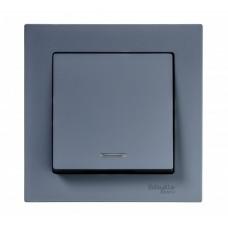 Выключатель АтласДизайн 1СП с/п 10А IP20 механизм грифель