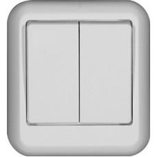 Выключатель Прима 2ОП б/п 10А IP20 в сборе белый  VA5U-214I-B