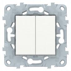 Выключатель Уника NEW 2СП б/п 10А IP20 механизм белый  NU521118