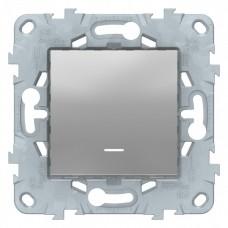Выключатель Уника NEW 1СП с/п 10А IP20 механизм алюминий  NU520130N