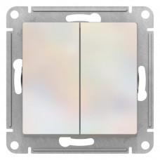 Выключатель АтласДизайн 2СП б/п 10А IP20 механизм жемчуг  ATN000451
