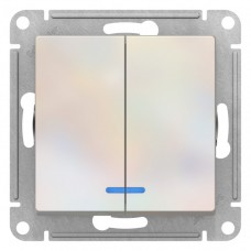 Выключатель АтласДизайн 2СП с/п 10А IP20 механизм жемчуг  ATN000453