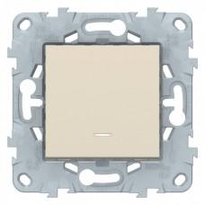 Выключатель Уника NEW 1СП с/п 10А IP20 механизм бежевый  NU520144N