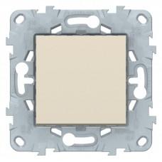 Выключатель Уника NEW 1СП б/п 10А IP20 механизм бежевый  NU520144