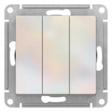 Выключатель АтласДизайн 3СП б/п 10А IP20 механизм жемчуг