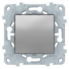 Выключатель Уника NEW 1СП б/п 10А IP20 механизм алюминий  NU520130