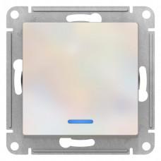 Выключатель АтласДизайн 1СП с/п 10А IP20 механизм жемчуг