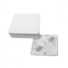 Коробка разветвительная КМР-030-032кг наружная 104х104х28 с клеммником белая PROxima EKF  plc-kmr-030-032kg