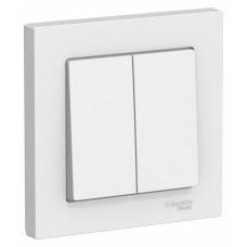 Выключатель АтласДизайн 2СП б/п 10А IP20 в сборе белый  ATN000152