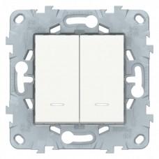 Выключатель Уника NEW 2СП с/п 10А IP20 механизм белый  NU521118N