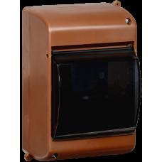 Корпус пластиковый КМПн 2/4 для 4-х модульных автоматов с прозрачной крышкой Дуб IEK