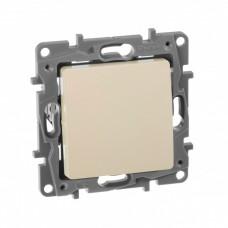 Кнопка СЛНК ETIKA (выключатель без фиксации) 1П 6А IP20 бежевый  672314