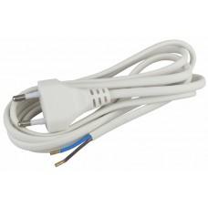 Шнур для бра 2х0,75мм2 1,8м без/выкл 20/100/2400 BR1(W) белый ЭРА