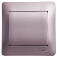Выключатель Глосса 1СП б/п 10А IP20 сиреневый туман  GSL001412