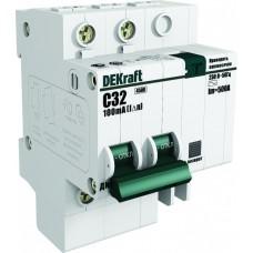 Дифф автомат 1P+N 25А хар-ка C 4,5кА 30мА AC АВДТ ДИФ-101 DEKraft Schneider Electric