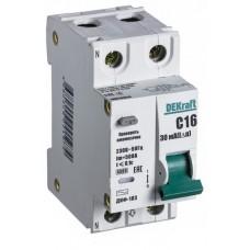 Дифф автомат 1П+N 40А хар-ка C 4,5кА 30мА AC АВДТ с защитой от сверхтоков ДИФ-103 DEKraft Schneider Electric  16017DEK