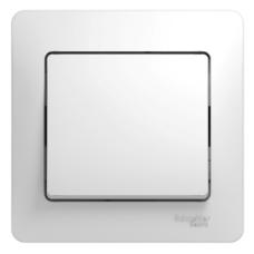 Выключатель Глосса 1СП б/п 10А IP20 в сборе белый  GSL000112