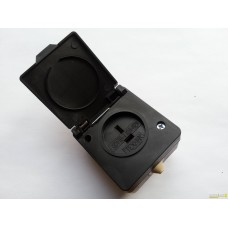 Розетка РШ 10А 42В IP43 черная (РШ-п-2-IP43-01-10/42)